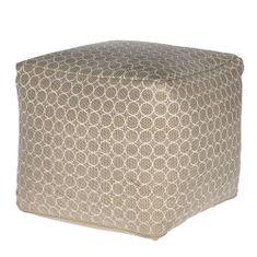 Mørtens Furniture Puf Monica, 40 cm, béžová