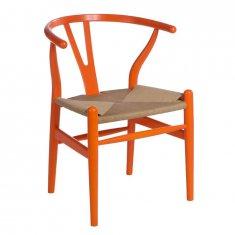 Mørtens Furniture Drevená stolička Vidja, oranžová