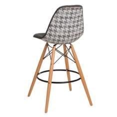 Mørtens Furniture Barová stolička s drevenou podnožou Desire pepito