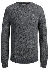 Jack&Jones Koszulka męska Jordale Knit Crew Neck LightGrey Melange Knit Fit
