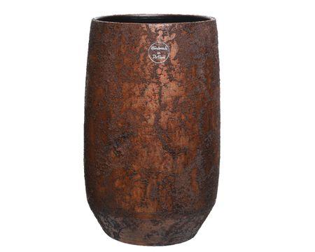 Kaemingk wazon ceramiczny 19 x 30 cm, ręcznie wykonany, brązowy