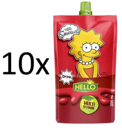 Hello 10x SIMPSONS multivitamín - 200 ml
