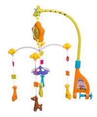 Teddies Kolotoč nad postieľku žirafy hrajúce