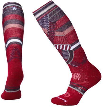 SmartWool nogavice W Phd Ski Medium Pattern Tibetan Red, rdeče, S
