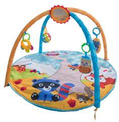 Teddies BABY Trapez za otroke s podlogo in ropotuljico