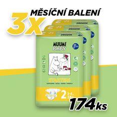 MUUMI BABY plenice 2 MINI (3-6 kg) 174 kosov (3x58 kosov)