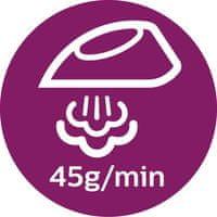 Otpuštanje para do 45 g / min za brže izglađivanje bora