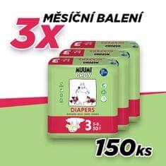 MUUMI BABY pieluchy 3 MIDI (5-8 kg) 150 szt (3x50 szt)