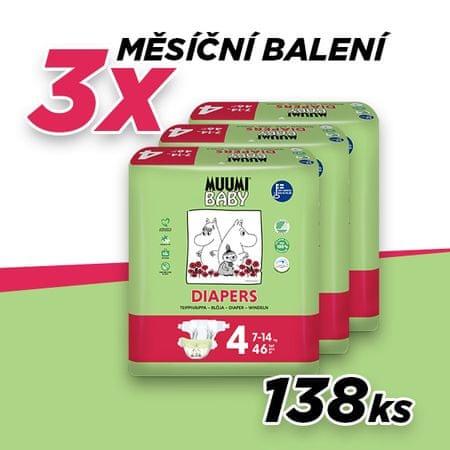 MUUMI BABY 4 MAXI (7-14 kg) 138 ks (3x46 ks)