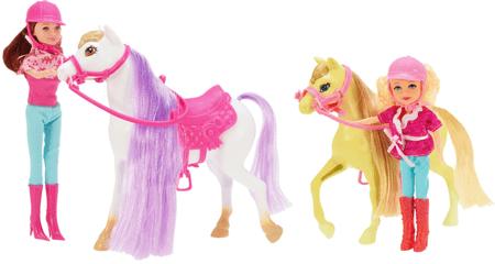 Teddies komplet konj + lutka, 4 kosi