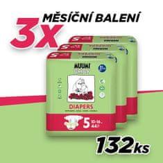MUUMI BABY 5 pieluchy MAXI+ (10-16 kg) 132 szt