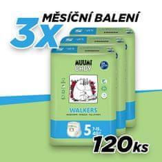 MUUMI BABY pieluchomajtki organiczne WALKERS 5 MAXI+ (7-15 kg) 120 szt. (3x40 szt.)