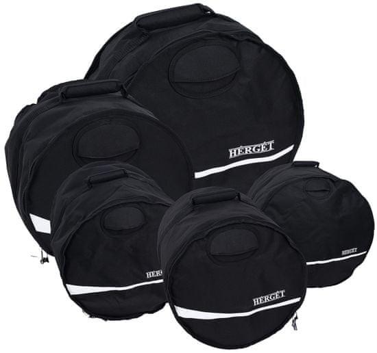 Herget Economy Elegant Fusion Set Black Súprava obalov na súpravu bicích