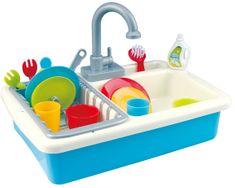 Teddies Drez na umývanie riadu + kohútik na vodu na batérie 20 ks