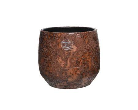 Kaemingk waza ceramiczna 18 x 16 cm, brązowa
