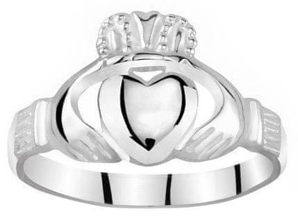 Silvego Dámsky Celostříbrný prsteň Claddagh ZTR96391 (Obvod 50 mm) striebro 925/1000