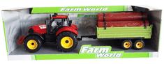 Mac Toys Traktor s prívesom a drevom