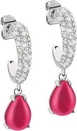 Morellato Stříbrné náušnice s červenými kamínky Tesori SAIW39 stříbro 925/1000