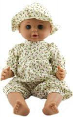 Teddies dojenček, 50 cm, trdno telo, z belo obleko in klobučkom