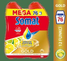 Somat gel za strojno pomivanje posode Gold Gel Anti-grease Lemon, 2x684 ml
