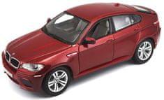 BBurago model samochodu BMW X6 M 1:18, czerwony