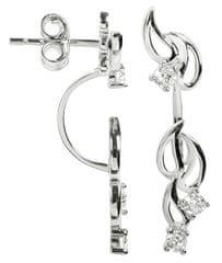 Silver Cat Dvojité strieborné náušnice so zirkónmi SC229 striebro 925/1000
