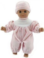 Teddies dojenček, 30 cm, s svetlo roza obleko in roza kapo