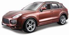 BBurago Kit Porsche Cayenne Turbo 1:24 hnedá