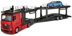 BBurago model samochodu ciężarowego Mercedes Benz Actros 1:43 + samochodzik
