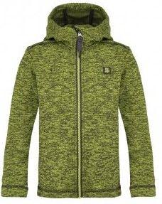 Loap detský sveter s kapucňou Gitan 146/152 zelená