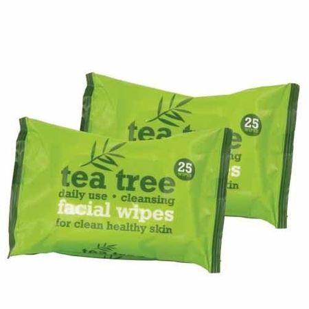 Xpel Ściereczki z drzewa herbacianego (chusteczki do twarzy) 2x25 sztuk