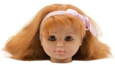Teddies glava lutke za česanje, rdečelaska