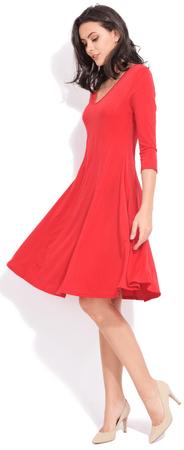 FILLE DU COUTURIER sukienka damska Nani 38 czerwony