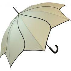 Blooming Brollies Damski parasolka do strzelania kijami Beige Swirl EDSSWB E.