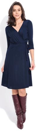FILLE DU COUTURIER ženska obleka Estelle, 36, temno modra