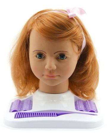Teddies glava lutke za česanje v setu, črnolaska - Odprta embalaža