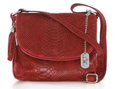Anna Morellini červená crossbody kabelka