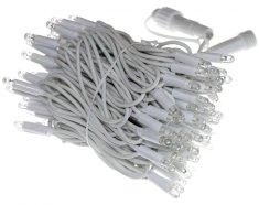 Seizis Reťaz 100LED - 10m, 90 teplá + 10 biela blikajúca, biely kábel - rozbalené