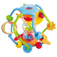 Teddies BABY Képességfejlesztő gömb csörgő 14 cm