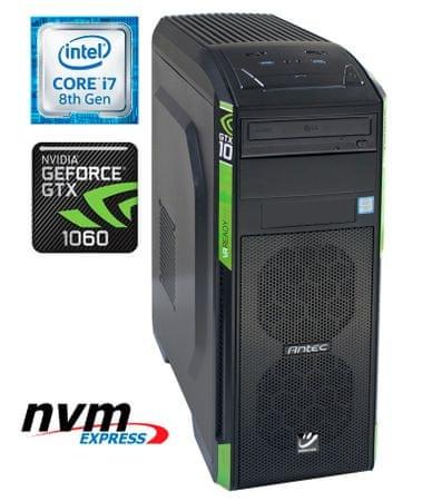 mimovrste=) namizni računalnik Gaming i7-8700K  /16GB/SSD256GB+2TB/GTX1060/FreeDOS (PC-G6875-M)