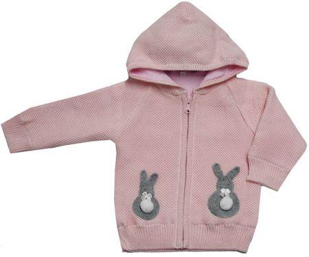 EKO dievčenský sveter so zajačikmi 98 svetloružová