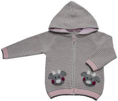 EKO dievčenský pruhovaný sveter