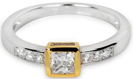 Silver Cat Srebrni prstan s kristali SC166 (Obseg 54 mm) srebro 925/1000