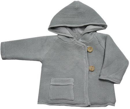 EKO dievčenský sveter s gombíkmi 86 sivá