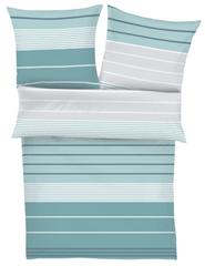 Ibena posteljnina iz bombažnega satena, črte