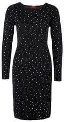 s.Oliver Dámské šaty 14.810.82.8426.99X1 Black knit