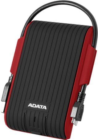 A-Data dysk zewnętrzny HD725 - 1TB, czerwony (AHD725-1TU31-CRD)