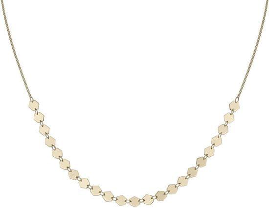 Cluse Pozlátený náhrdelník s šesťuholníkov CLJ21003