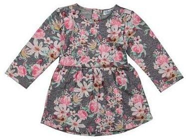 Dirkje díčví květované šaty 110 šedá