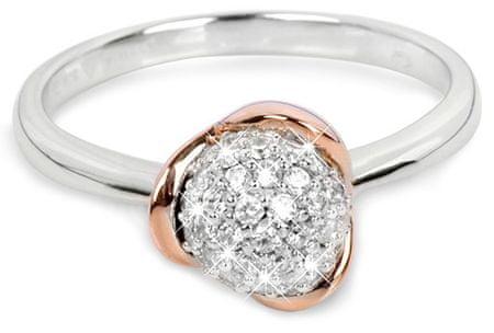 Silver Cat Aranyozott ezüst gyűrű cirkónia kővel SC183 (áramkör 54 mm) ezüst 925/1000